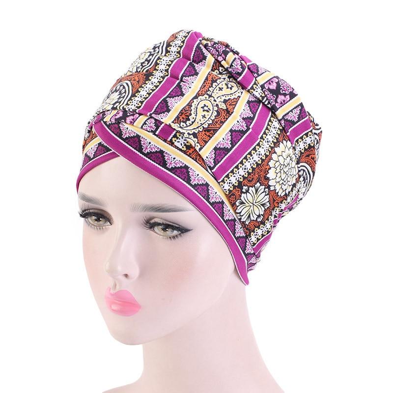 Фото - 2020 New Women African Headscarf Bonnet Hat Muslim Long Tail Turban Caps Printed Cotton Turbanet Female Islamic Hijab Headwraps new cotton twist women turban caps muslim printed hijab bonnet islamic african wrap indian hat ladies chemo cap bandanas