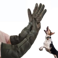 pet gloves handling gloves strengthened leather anti bite protective gloves for cat dog and gardening work gloves
