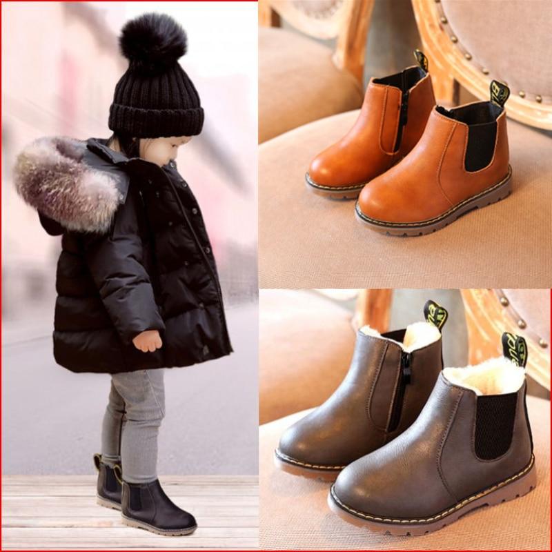 Children Snow Boots 2020 Autumn Winter Cotton Shoes Boys Girls Waterproof Non-slip Ankle Boots Kids