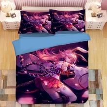 Yae Sakura Bed Linen 3D Cartoon Anime Duvet Covers Pillowcases Kids Comforter Bedding Sets Bed Linens Bedclothes Bed Set 07