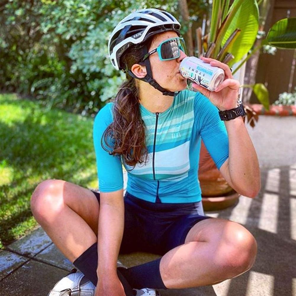 Conjunto de ropa de Ciclismo profesional para mujer, Maillot de manga corta...