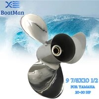 propeller 9 78x10 12 for yamaha engine 20hp 25hp 30hp stainless steel 10 splines boat parts accessories 664 45945 00 el