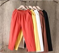 casual pants capris women clothing loose plus size cropped large womens 2021 summer new style wide solid color streetwear urban