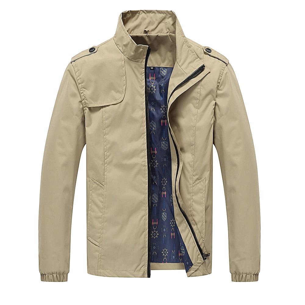 Spring and Autumn Men's Jackets Zipper Fashion Slim Coat Men's Casual Locomotive Solid Color Jacket Cardigan Jacket Jacket M-5X