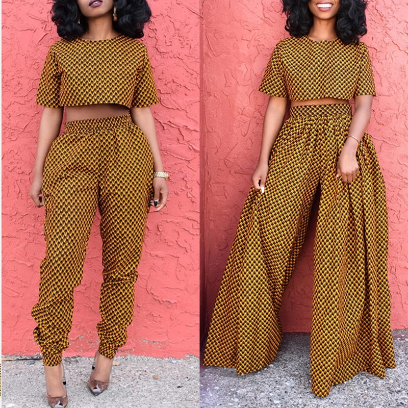 AliExpress - Women Sexy African Clothes 2 pieces Set (Tops+Skirts) Dashiki Print African Dress Party African Dresses for Women Robe Africaine