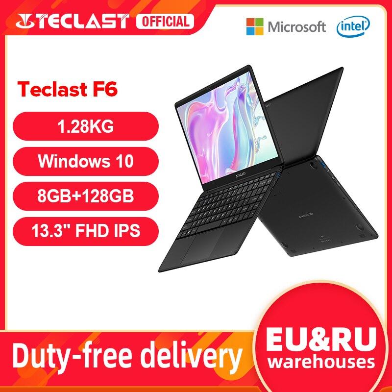 AliExpress - Teclast F6 Newest Laptop 8GB LPDDR4 128GB SSD 1.28KG Notebook 13.3″ IPS 1920×1080 Intel Apollo Lake Windows 10 Laptops USB3.0
