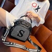 rhinestone backpack female 2021 new summer korean fashion ladies small trendy female three purpose diagonal bag mochila feminina
