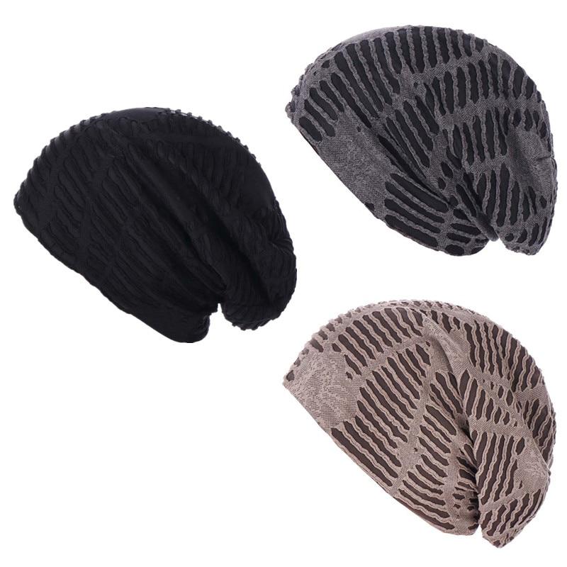 Весенне-Летние повседневные тонкие шапки унисекс, сплошные шапки с напуском, вязаные крючком облегающие шапки в стиле хип-хоп, защелкивающа...