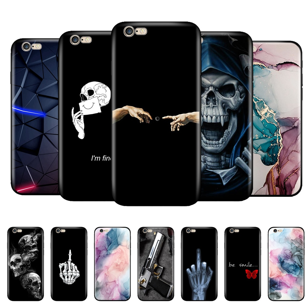 aliexpress.com - For iphone 5s 5 s se 2016 Case 4.0″ Silicon Soft Back Phone Cover On Apple iPhone 6s 6 s plus Protective Coque black tpu case