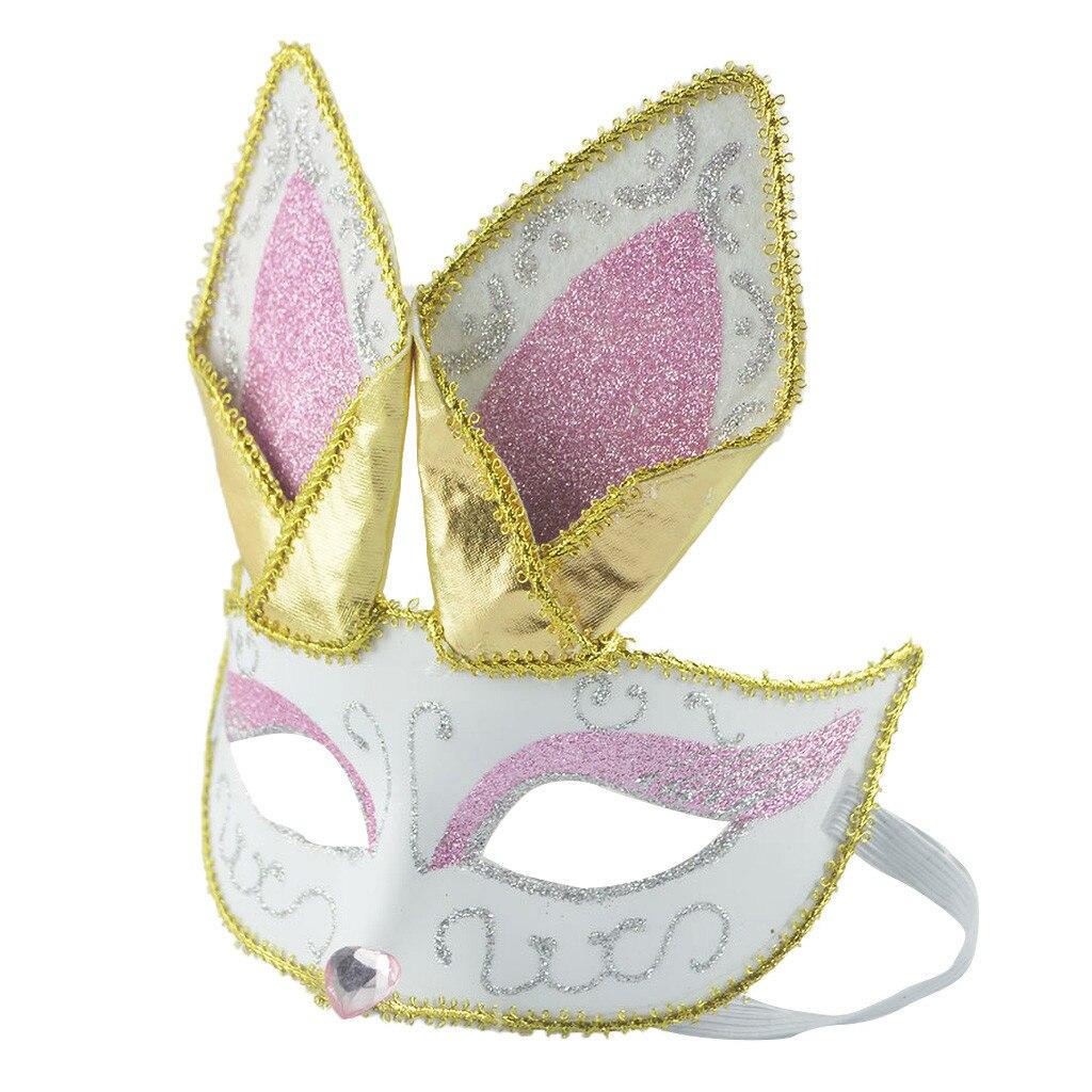 2019 Venetian маска чумного доктора Masquerade Mask Womens Sexy Black Glitter Fancy Animal Lace Eye Mask Noble rabbit mask 05*