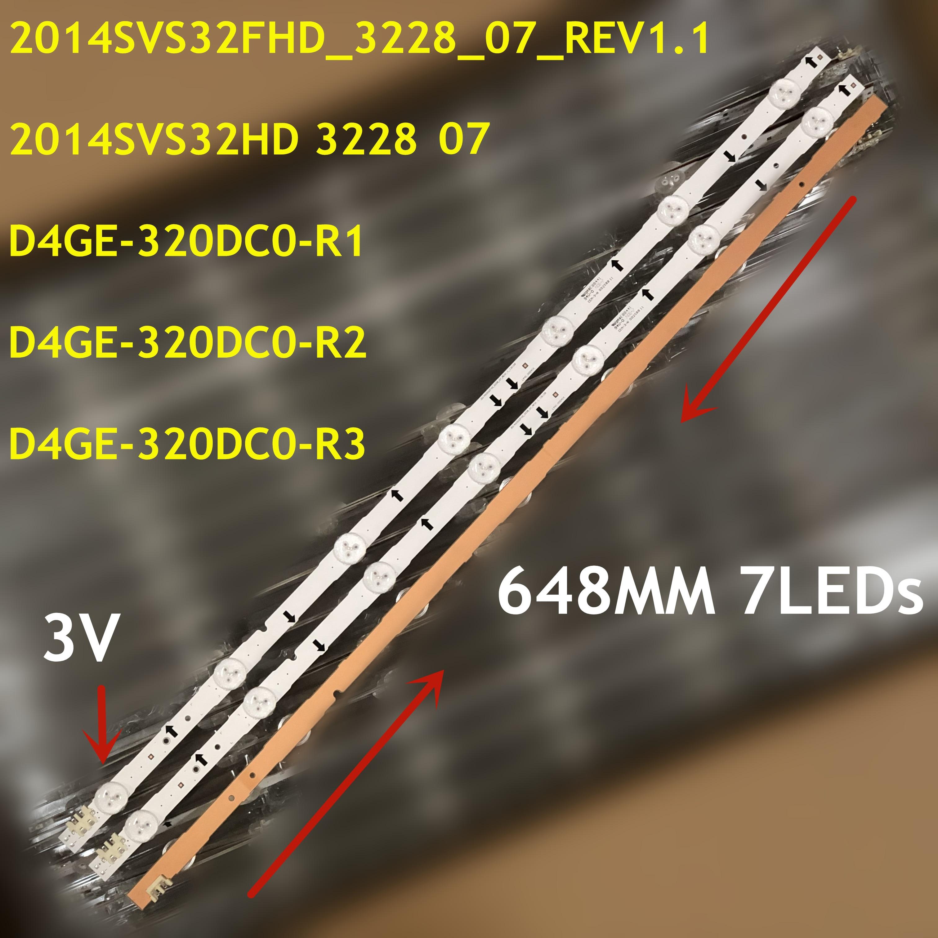 4PCS LED Backlight Para UE32H5000 UE32H5500 UE32J5100 UE32J5500AK UE32H6200 UE32J6300 UA32H5500AJ GH032BGA-B2 D4GE-320DC1-R1 R2