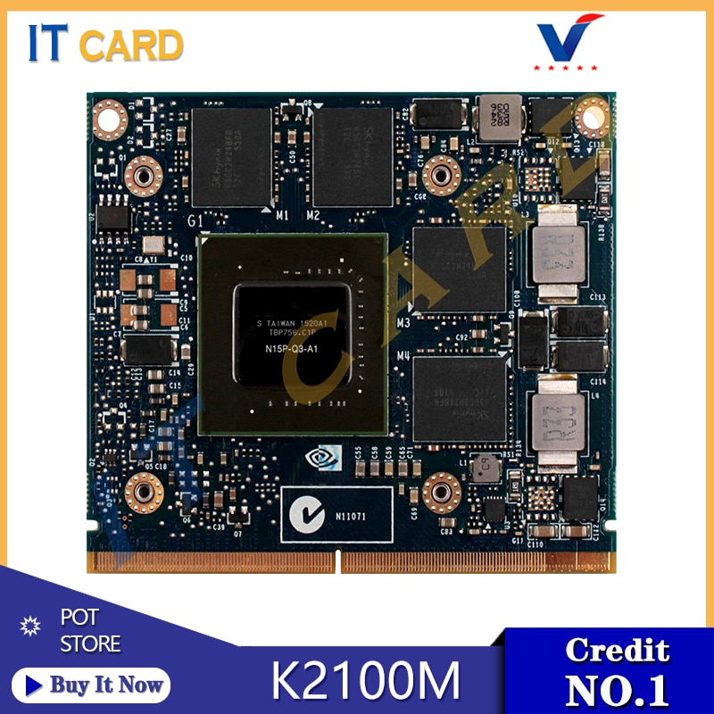 Quadro K2100M K2100 GDDR5 2GB Video Graphics Card N15P-Q3-A1 For Dell M4800 HP 8560W 8570W 8770W ZBook 15 17 G1 G2 100% Test OK