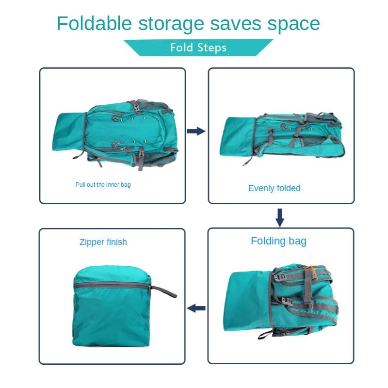 Купить с кэшбэком QUESHARK 40L Ultralight Waterproof Soft Foldable Camping Shoulder Backpack Climbing Travel Mountaineering Hiking Cycling Bag