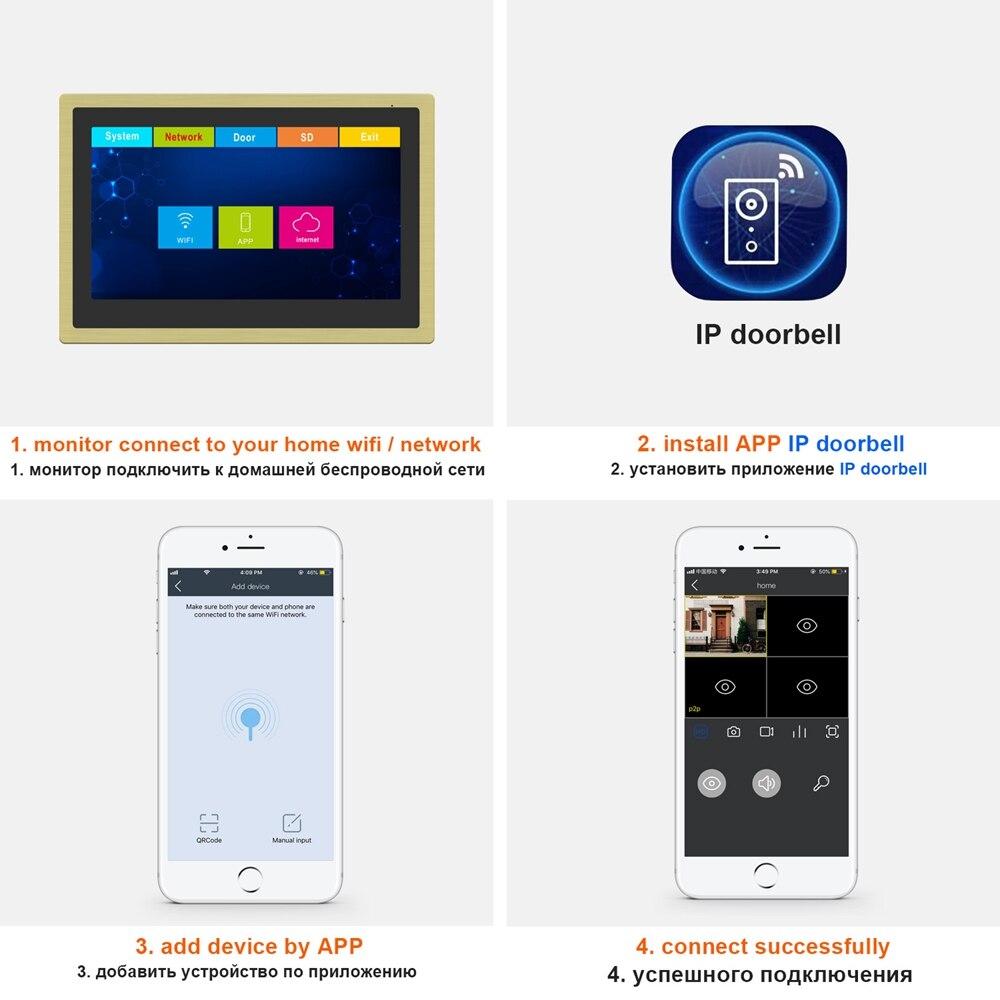 Wifi Video Intercom IP Wireless Video Door Phone for Home Security System  10 inch Touch Screen  1080P Door Intercom enlarge