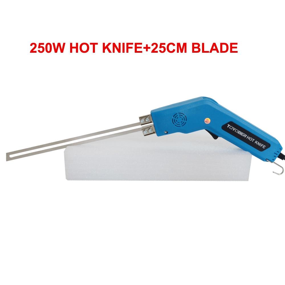 TOYOBER 250 واط 250 مللي متر عالية الجودة ماكينة قطع إسفنج XPS الحرارة قطع أداة سكين الكهربائية قاطع الفوم سكين