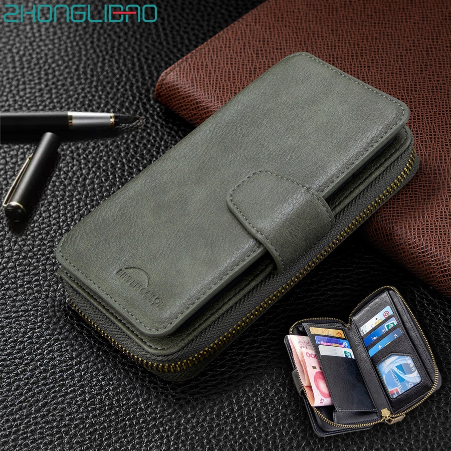 Кожаный чехол-кошелек с откидной крышкой для Xiaomi 9T CC9 Note10 Redmi 7 8 7A 8A K20 Note 9 8T 9S 8 7 Pro Etui с отделениями для карт Магнитный чехол для телефона
