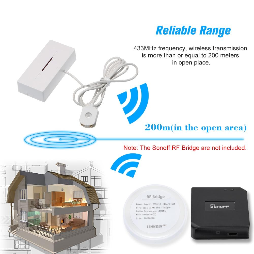 10PCS Wireless Water Leakage Sensor Flood Overflow 433MHz Water Leaking Sensor For Home Smart Kitchen Bathroom Security