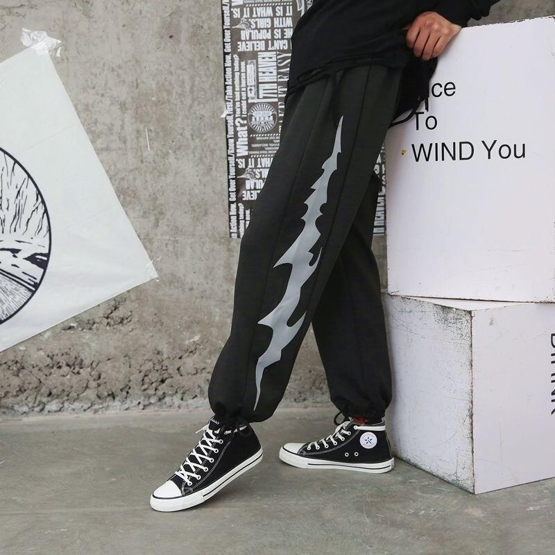 Pantalones con cordón de pierna ancha para hombre, pantalones de chándal con dibujo grafiti 2000s, estética vintage ropa de calle, pantalones deportivos de tecnología coreana