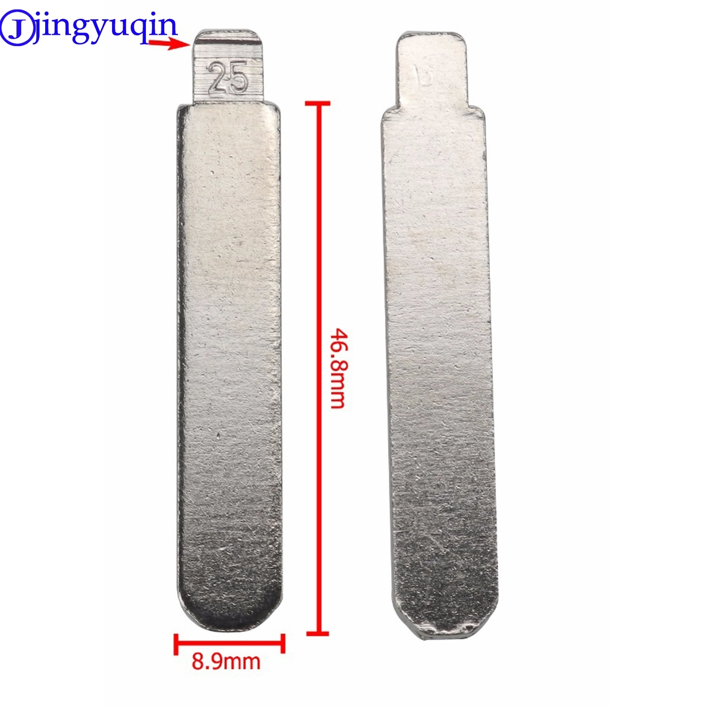 jingyuqin #25 1ps Remote Blank Key Uncut Blade For Honda Accord Fit Sidi Civic Odyssey For BYD F6