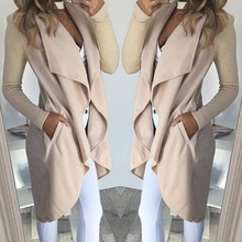2020 New Arrivals Women Spring Autumn Vintage Long Sleeve Slim Fit Casual Cardigan Long Trench Jacke