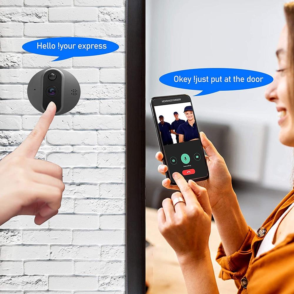 Video Doorbell Wifi Digital Peephole Door Bell Camera Tuya Smart House Door Viewer enlarge