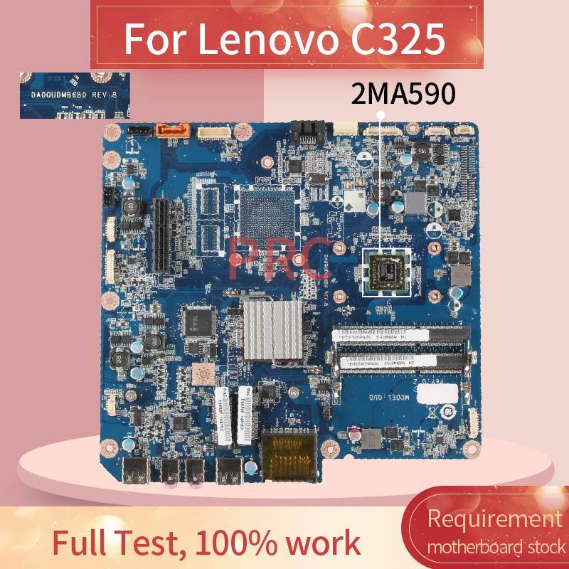 اللوحة الأم للكمبيوتر المحمول Lenovo C325 2MA590, 11013710 للوحة الأم للكمبيوتر المحمول Lenovo C325 2MA590 DA0QUDMB6B0 DDR3 لوحة رئيسية للكمبيوتر المحمول