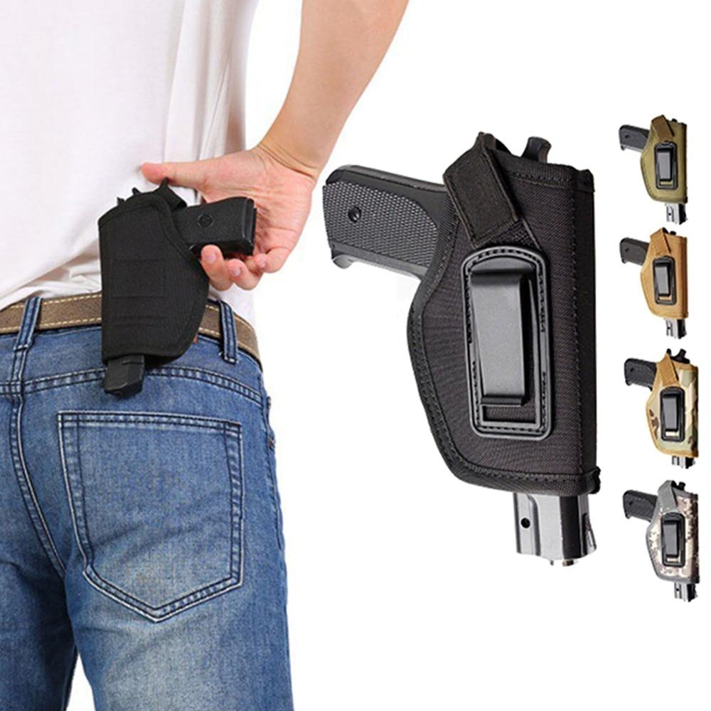 Coldre compacto tático subcompacto para pistola, estojo de cintura, bolsa de arma glock, acessório para caça ao ar livre, cs campo de proteção invisível