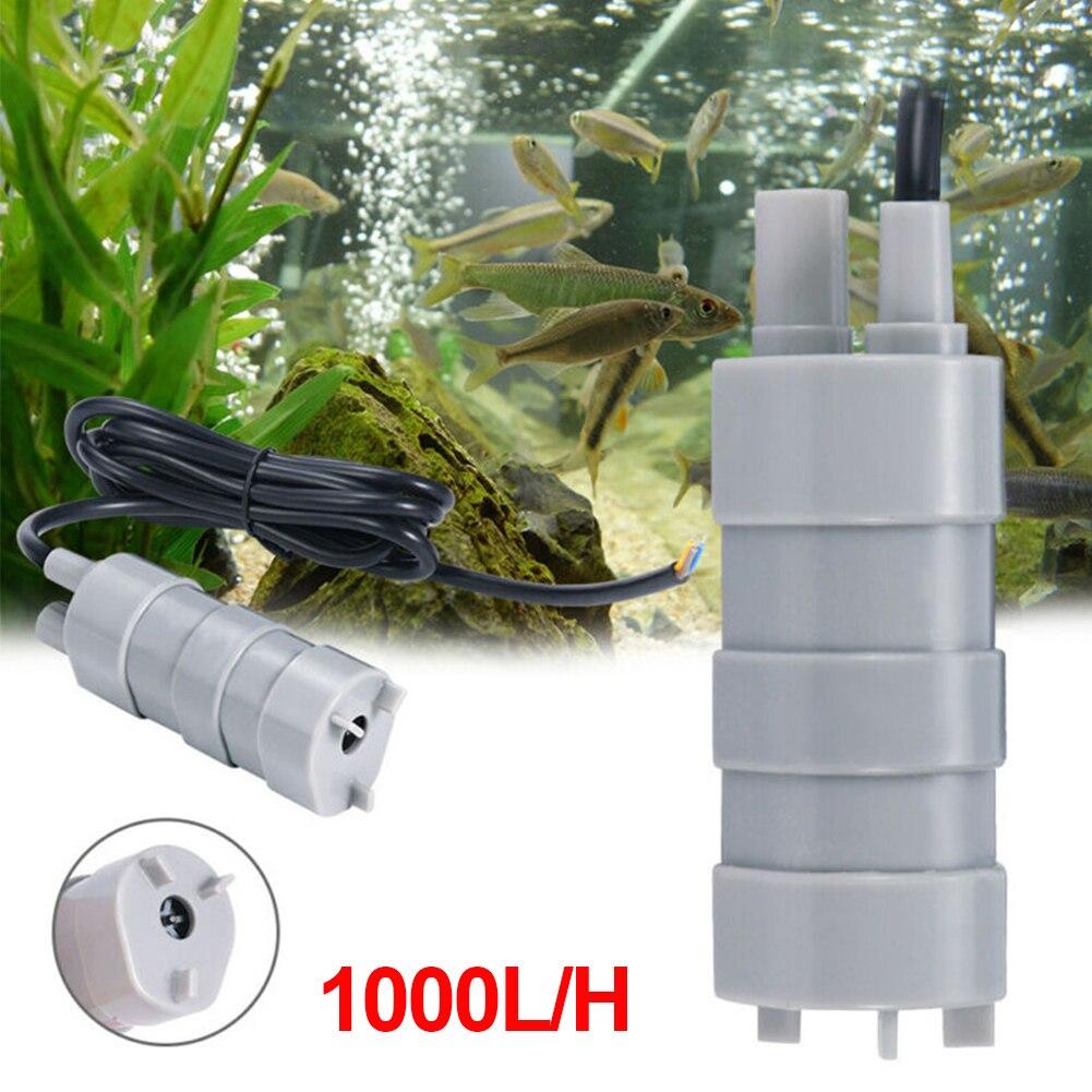 Фото - Погружной водяной насос высокого давления, DC 12 В, 1000 л/ч, микромотор, водяной насос для сада, фонтана, аквариума насос погружной aquael aqua jet pfn 1000 11вт