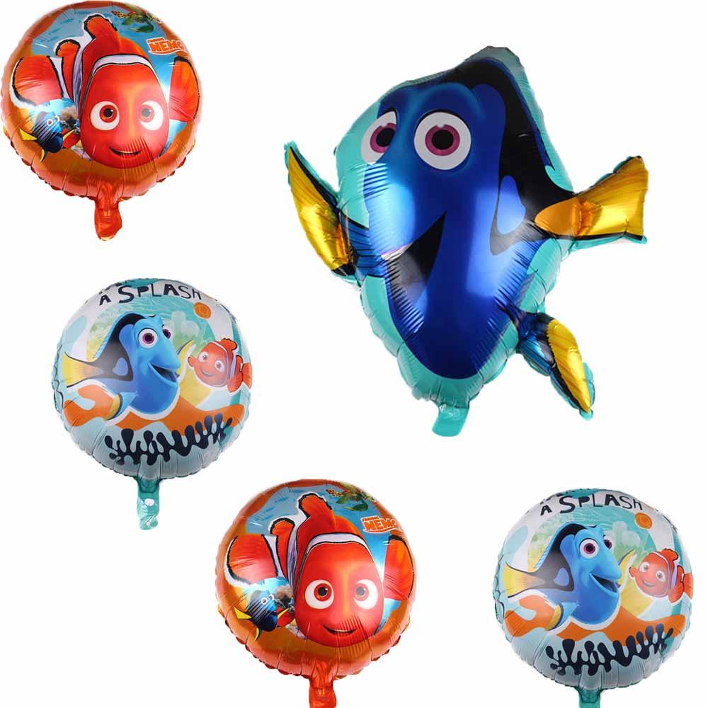 1pc 78*73cm Nemo Cute Dory fish Foil Balloons Kid Toys Ocean Sea Air Globos Theme Christmas Birthday