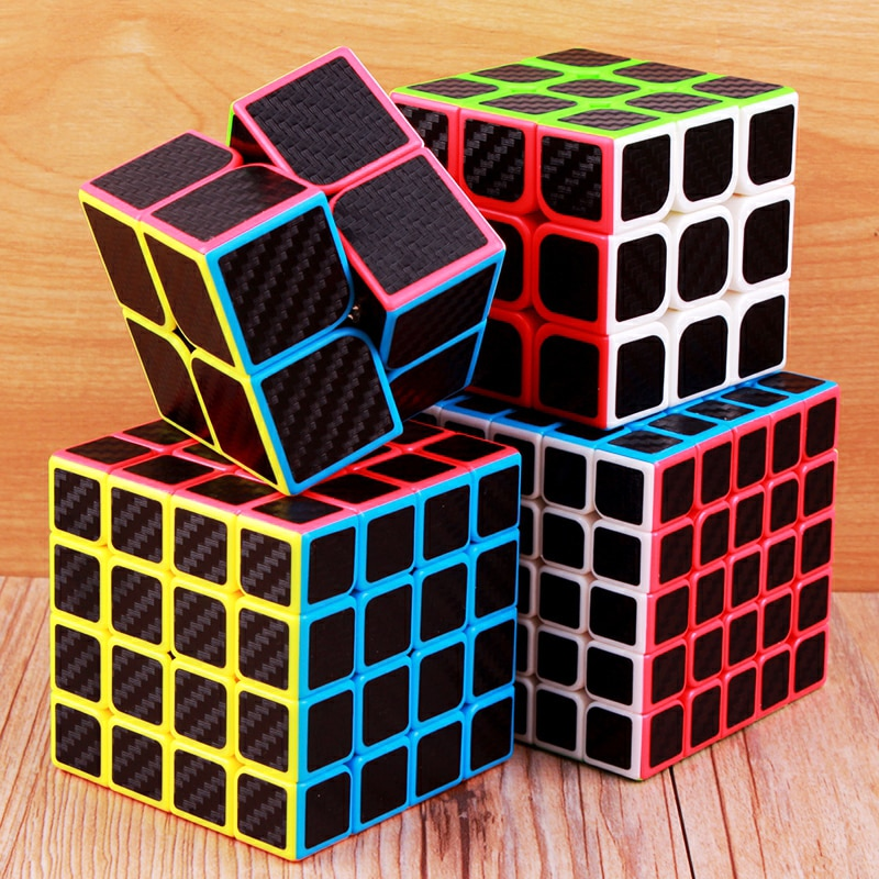 Moyu Carbon Fiber Cube 2x2x2 3x3x3 4x4x4 5x5x5 Magic Cube Puzzle Speed 2x2 3x3 4x4 5x5 Cubo Magico Cool Children Toys Kids Gifts 4x4x4 qiyi magic cube professional speed puzzle cube educational toys for kids children xmas gifts cubo magico rubic