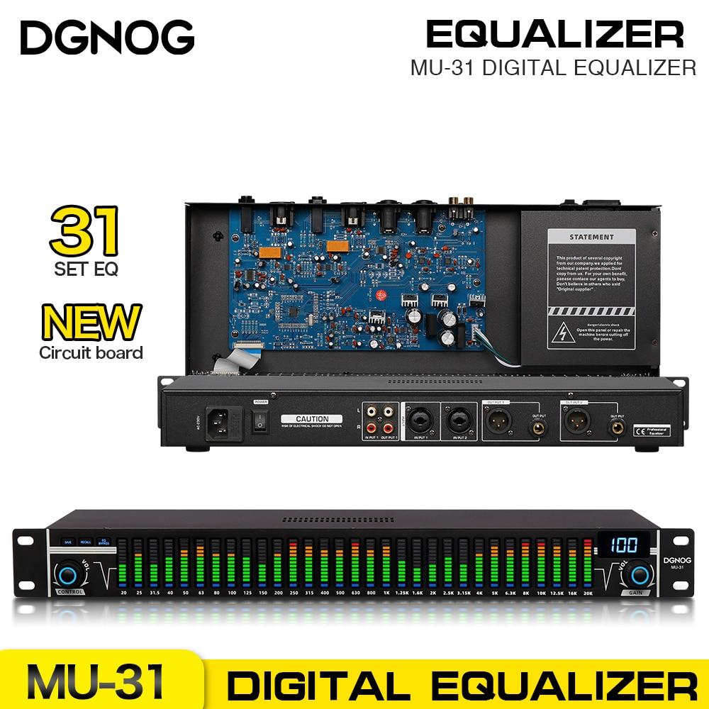 جهاز ضبط رقمي احترافي من DGNOG MU-31 مزود بتأثير رقمي مجسم مزود بتقنية LED جهاز تحكم في التعادل مع معالج صوت