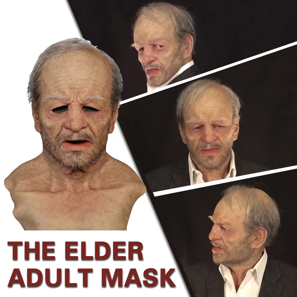 Terrorist Killer Another Me-the Elder Halloween Toy Holiday Funny Masks Cosplay Props Supersoft Old Man Adult Mask Mascaras
