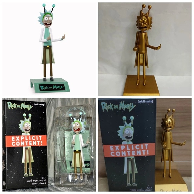 Hot Anime Figure Rick Morty Collection Action Figure Toys Grandpa Rick Room Decoration Gifts for Kids Children Toys 2