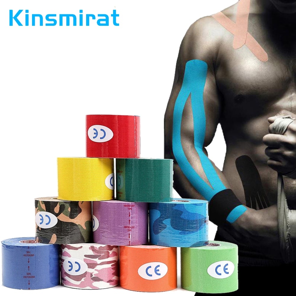 1pcs Kinesiology Tape for Physical Therapy Sports Athletes–Latex Free Elastic Water Resistant for Knee Elbow Shoulder Muscle