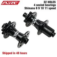 arc 4 sealed bearing hub 32 holes mountain bike hub 6 disc bolt mtb hub with shimano hg freehub body 4 pawls 48 clicks bike part