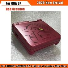Zamiennik Pure color obudowa obudowa przednia pokrywa naprawa części do konsoli Gameboy Nintendo Advance SP GBA SP