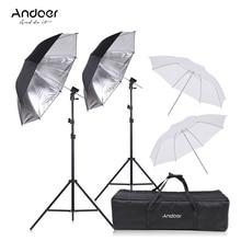 Andoer Fotografie Beleuchtung Kit Blitzgerät Schuh Halterung Swivel Weiche Umbrella Kit Light Stand für Canon Nikon YONGNUO