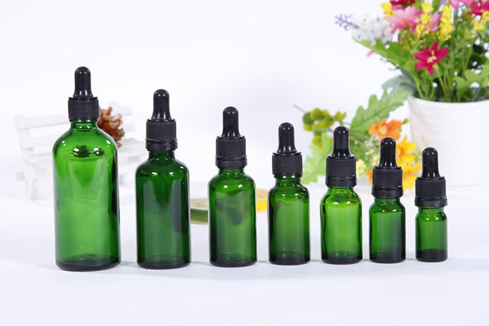 Amber Glass Dropper Bottle 5-30ml Refillable Empty Container Vials With Pipette For Cosmetic Perfume Essential Oil Bottles