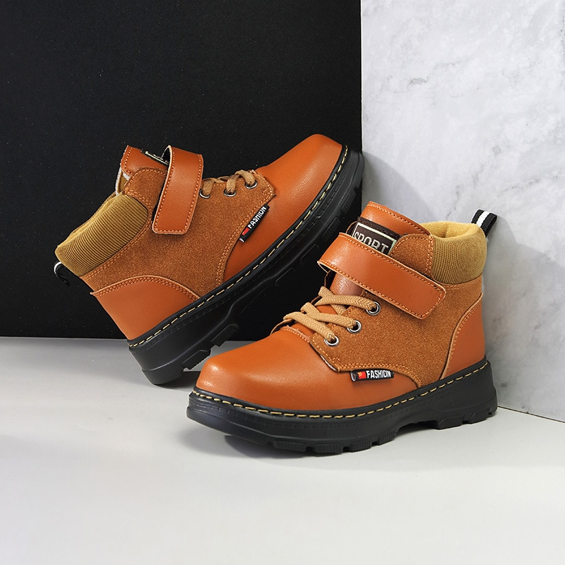 2021 Winter New Children's Martin Boots Plus Velvet Thick Warm Cotton Shoes High-top Sports Boys and Girls Shoes Boots for Kids