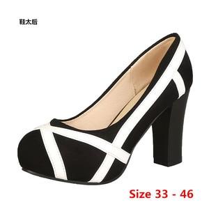 High Heel Shoes Woman Platform Pumps Wedding Party Shoes Dress Women Shoes High Heels Ladies Shoes Small Big Size 33 - 46