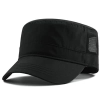 mens large size hat quick drying flat top hat outdoor leisure sun hat women big size mesh army cap 56 60cm 61 68cm