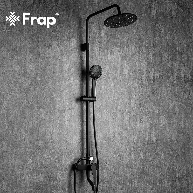 Frap Bathroom Faucet Black Rain Shower Head Faucet Wall Mounted Bathtub Shower Mixer Tap Shower Fauc