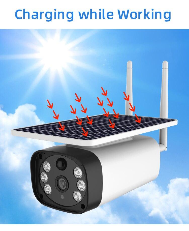 Estrellas noche visión de energía Solar 4g cámaras IP Radar PIR de detección de 2MP solar wifi CCTV cámaras 2MP panel solar 4g Cámara