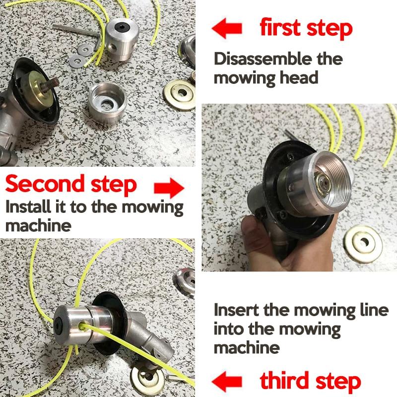Aliuminio žoliapjovės galvutė su 4 linijomis, žoliapjovės - Sodo įrankiai - Nuotrauka 4