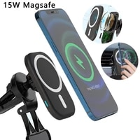 15w magnetic wireless car charger holder for iphone 12 pro max 12 mini stand induction fast charging magnetic phone charger