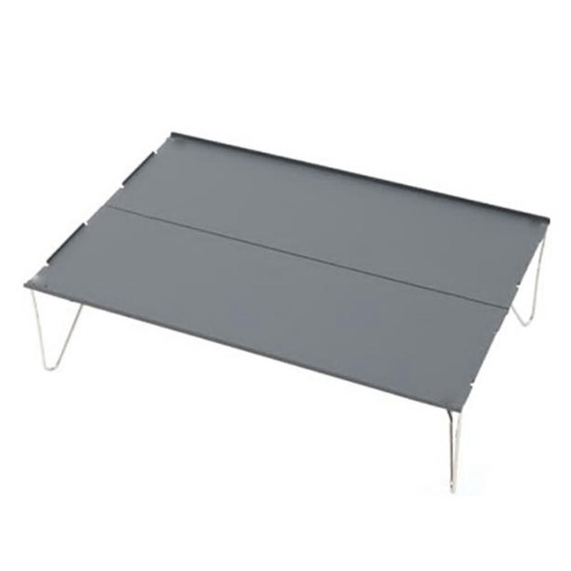 Outdoor Folding Table Durable Aluminum Alloy Plate Portable Lightweight Mini for Barbecue Camping