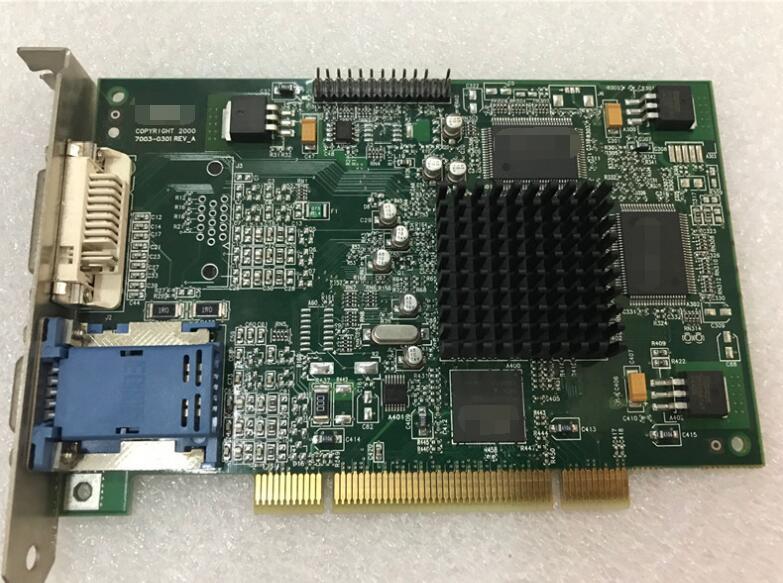 100%ok PCI Slot Graphics Card PCI To VGA For MATROX G450 G45FMDVP32DB F7003-0301CRT DB15 DVI output Interface Video Card