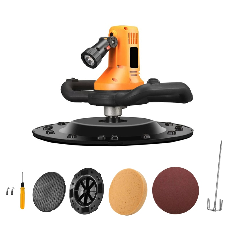 Concrete Cement Mortar Trowel Wall Smoothing Machine Adjustable Speed 80-200RPM Portable Concrete Drill Mixer Polishing Machine