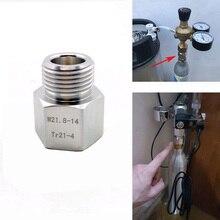 SodaStream Cylinder Adapter Converter to W21.8 Aquarium Fish or Homebrew Beer Corny Keg Co2 Tank Regulators