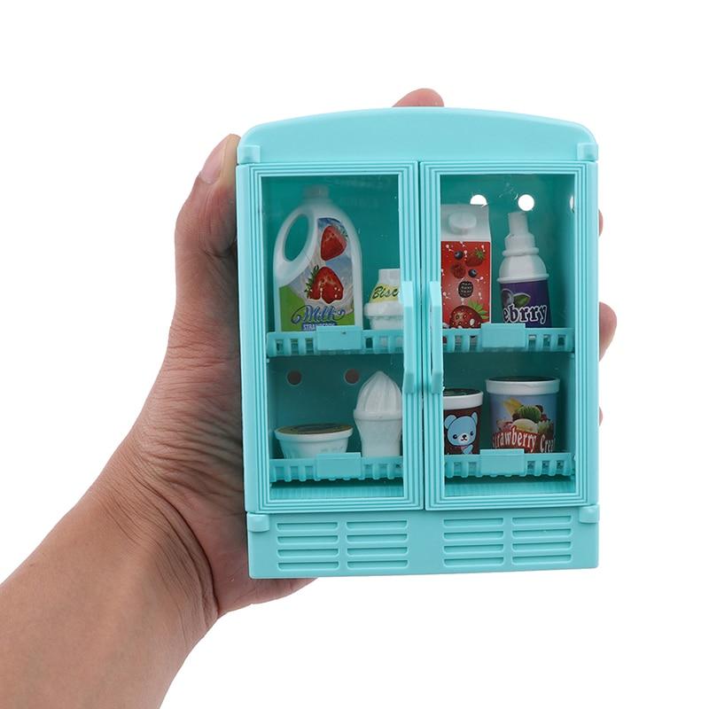 Meuble de supermarché Miniature pour maison de poupée, meuble pour faire semblant de jouer, avec nourriture, boissons, accessoires et jouets, 1/12
